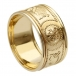 Wide Warrior Ring with Trim - All Yellow Gold