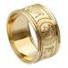 Breiter Krieger Ring mit Besatz - Alles Gelbgold
