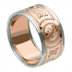 Wide Rose Gold Ring with Trim