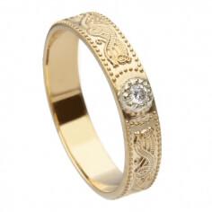 Bague diamant guerrier celtique pour femme