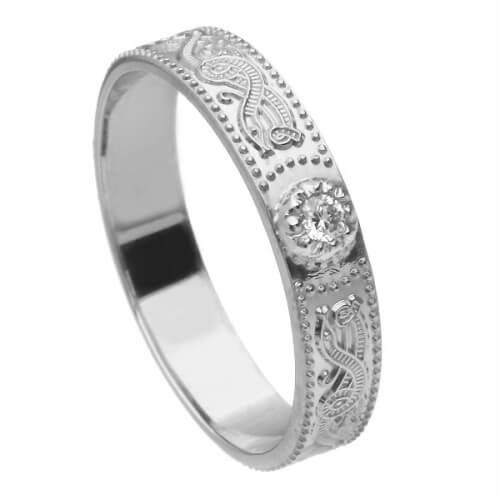 Damen Weißgold Krieger Diamant Ring