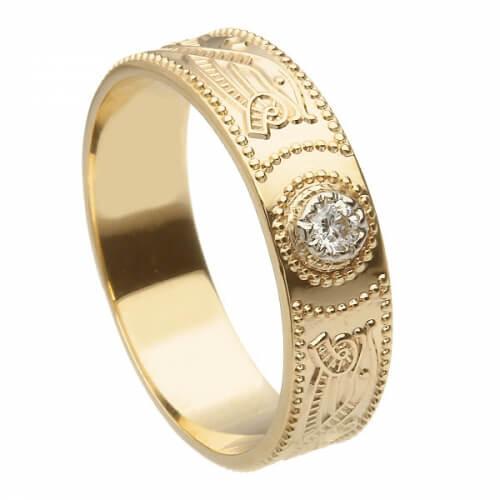Bague diamant guerrier celtique pour homme