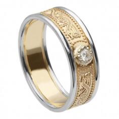 Keltischer Krieger Diamantring mit Rand