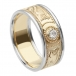 Men's Celtic Warrior Diamond Ring with Trim