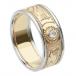 Herren Keltischen Krieger Diamantring mit Rand