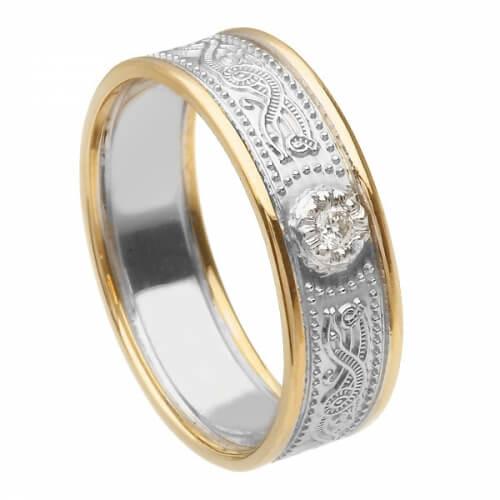 Women's Warrior Diamond Ring with Trim