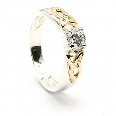 Trinity Shoulder CZ Ring