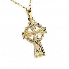 Croix celtique moyenne - Or jaune