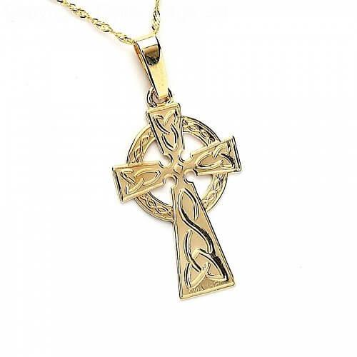 Medium Celtic Cross - Yellow Gold
