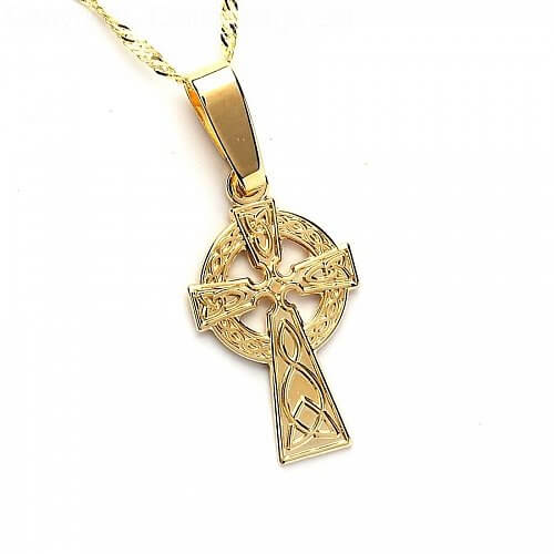 Small Gold Celtic Cross - Yellow Gold