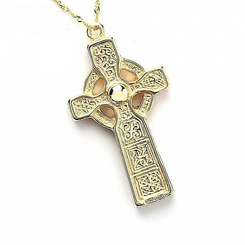 Double-Sided Duleek Cross - Yellow Gold - Front
