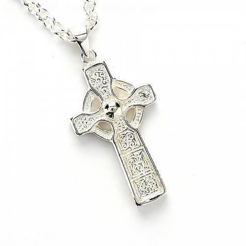 Hohes Kreuz an der Glockenkette - Silber