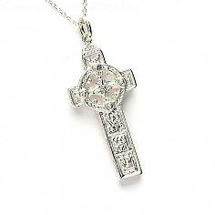 Duleek Cross & Belcher Chain - Silver