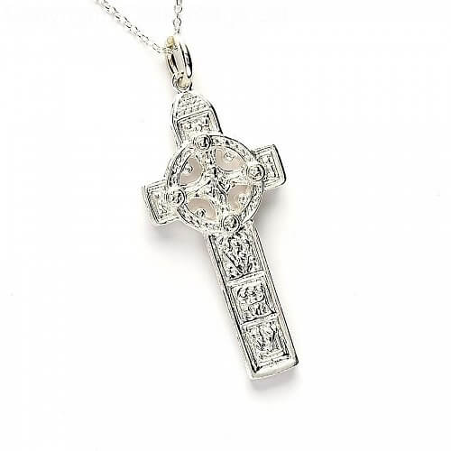 Duleek Cross & Belcher Chain - Silver