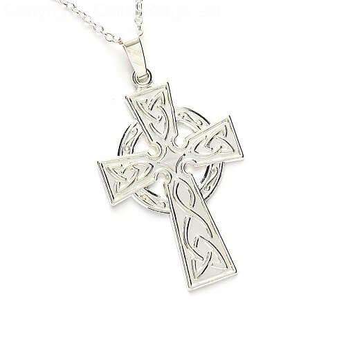 Großes keltisches Kreuz - Sterling Silber