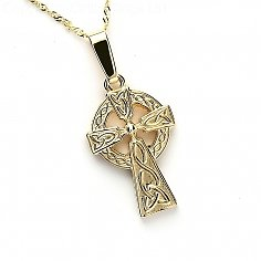 Double-Sided Celtic Cross - Yellow Gold