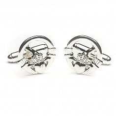 Silver Claddagh Cuff Links
