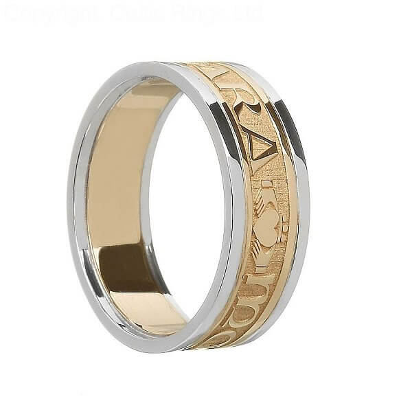 Irish Soul Mate Wedding Ring  Yellow Gold With White Gold. Apatite Bracelet. Circle Necklace. Infinity Wedding Band. Bling Rings. Rose Pearls. Comic Diamond. Ocean Wave Bracelet. Tri Color Bracelet