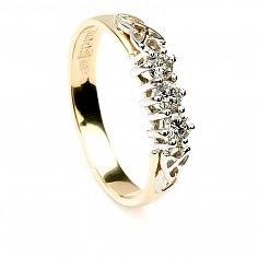 Drei Stein Diamant Verlobungsring - Gelbgold