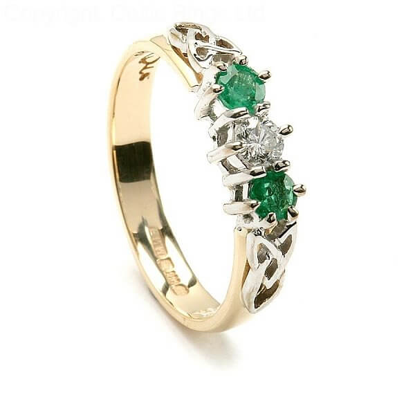 arianrhod trinity emerald engagement ring - Emerald Wedding Rings
