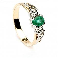 Boann Emerald Bague de fiançailles