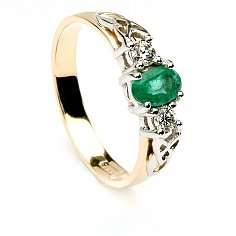 Boann Emerald Engagement Ring