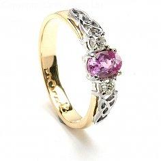Rosa Saphir-Verlobungsring