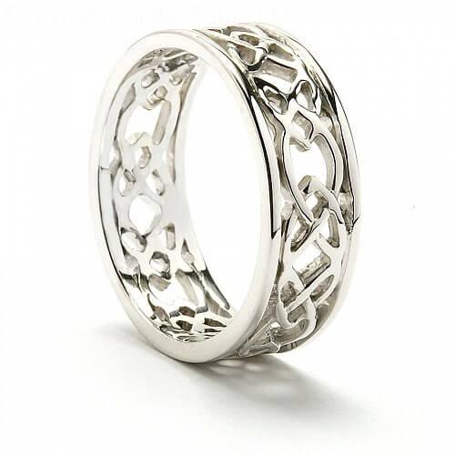iona celtic wedding band - Heart Wedding Ring