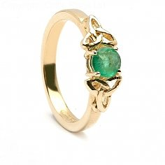 Airmid Emerald Engagement Ring