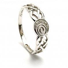 Damen Celtic Diamant Spiralring