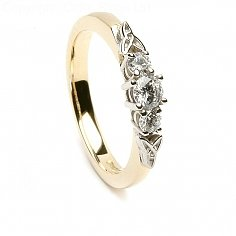 3 Stone Trinity Knot Engagement Ring