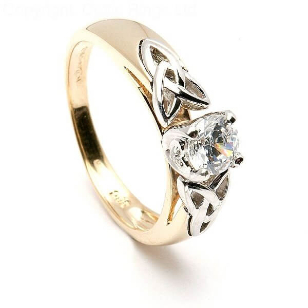 Trinity Knot Inset Engagement Ring