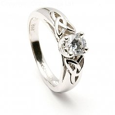 Arduinna Trinity Inset Engagement Ring