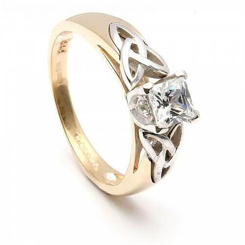 Andraste Princess Trinity Inset Ring
