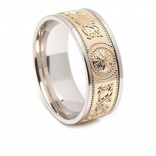 Irish Ring mit Trim 8.6mm