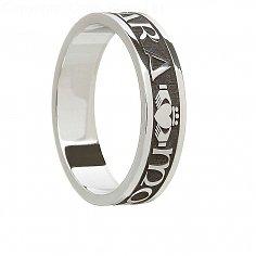 Oxidiert Silber Seelenfreund Ring