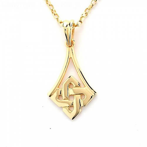 Simple Celtic Knot Pendant - Yellow Gold