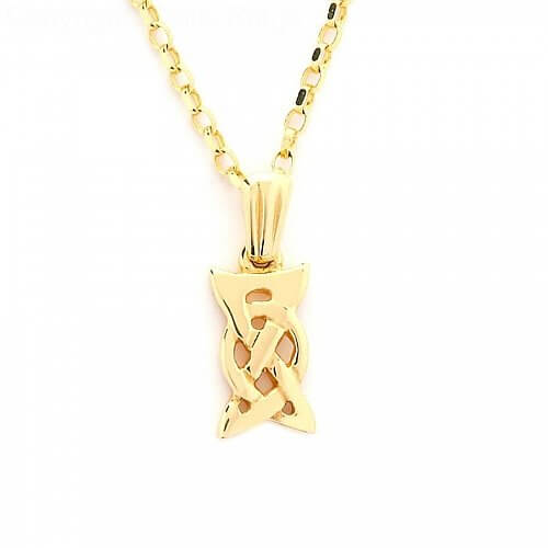Small Celtic Knot Pendant - Yellow Gold