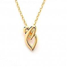 Keltischer Liebesknoten Anhänger - Gelbgold