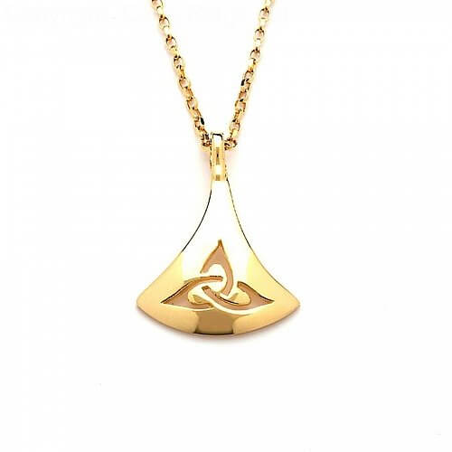 Keltischer Trinity Knoten Anhänger - Gelbgold
