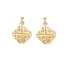 Celtic Knot Earrings - Yellow Gold