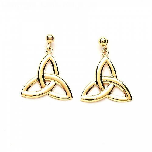 Trinity Knot Earrings - Yellow Gold