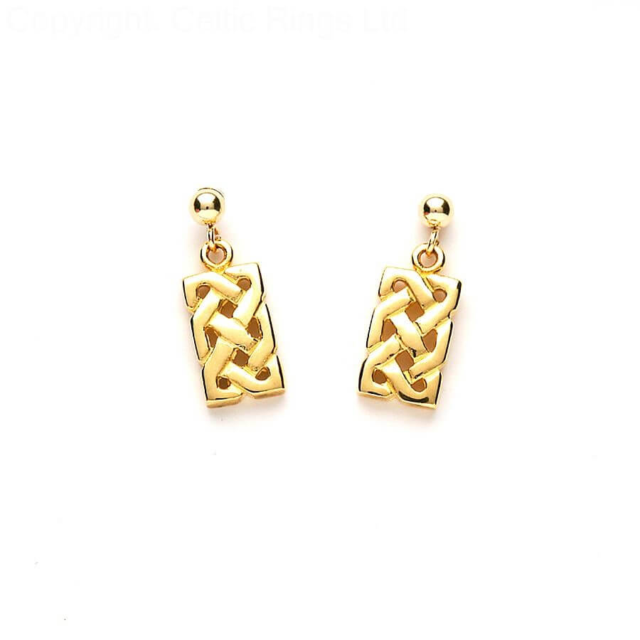 celtic gold large jewellers webbs knot style earrings products