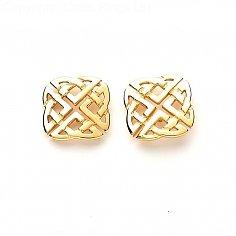 Keltischer Knoten-Bolzen-Ohrringe