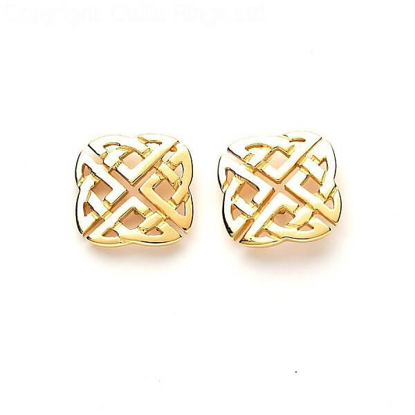 746fddd63fca2 Celtic Square Stud Earrings