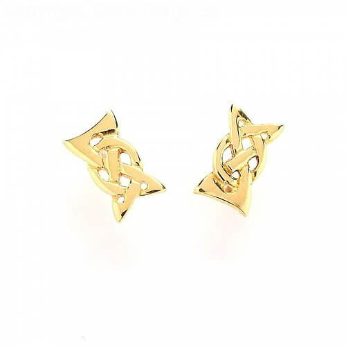 Elegant Celtic Knot Earrings - Yellow Gold