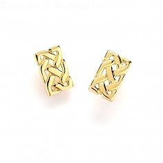 Solid Celtic Knot Earrings - Yellow Gold