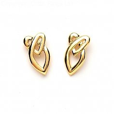 Celtic Heart Knot Earrings - Yellow Gold