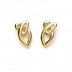 Keltische Herzen Knoten Ohrringe - Gelbgold