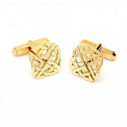 Celtic Knot Cuff Links - Yellow Gold